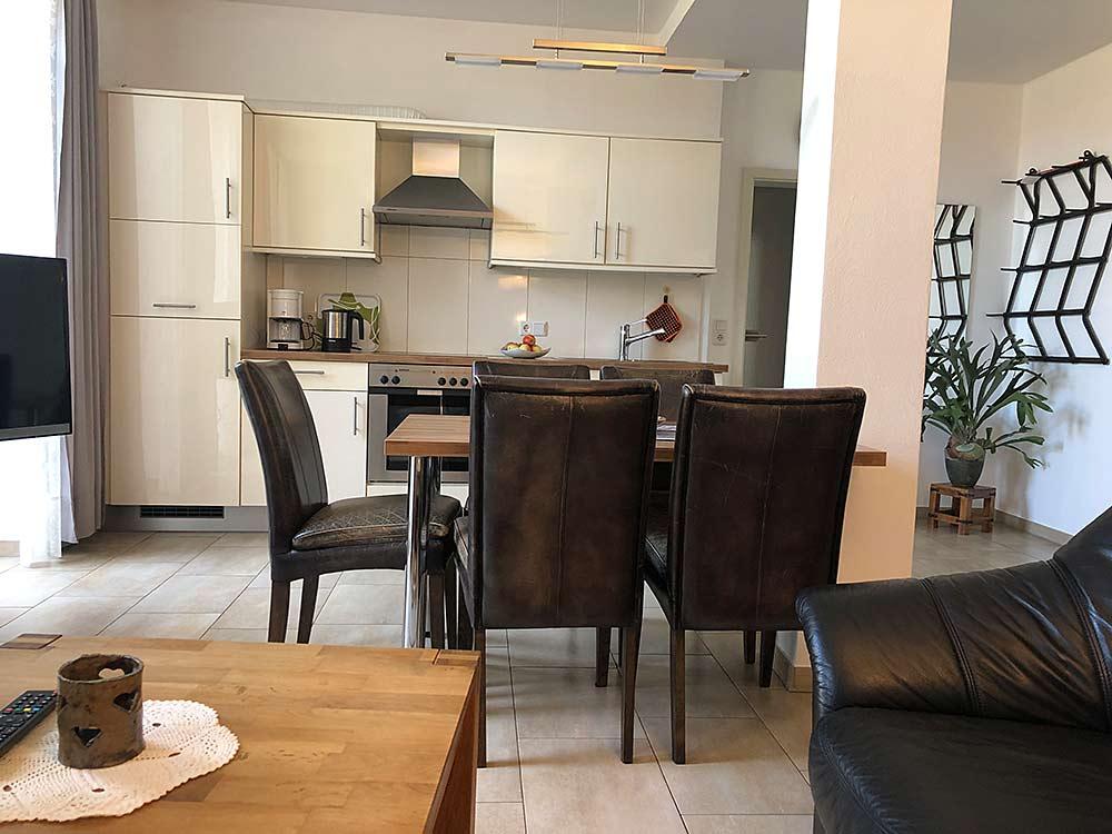 Blick auf den Küchenbereich